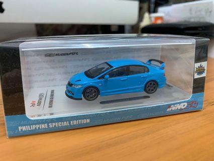 全新未開封 INNO64 1/64 Honda Civic Type-R FD2 Blue (Philippine Special)