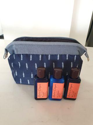 Navy blue pouch + Travel Toiletry Pouch  #EndgameYourExcess