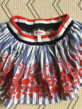 Seed red blue white toddler skirt