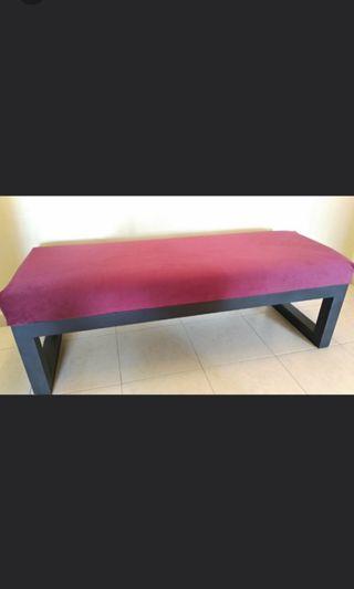 🚚 Rwd Velvet cushion bench