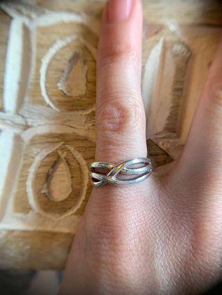 Celtic twist silver ring