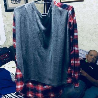 Plaid LongSleeve Pullover (unisex)