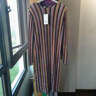 BN Zara Stripe Midi Dress