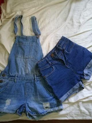 17c29c7c24bef dungaree shorts | Women's Fashion | Carousell Singapore