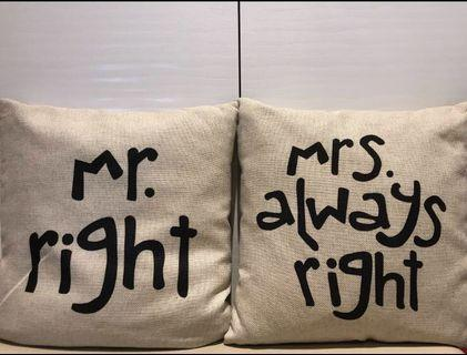 Cushion with cover (a pair)