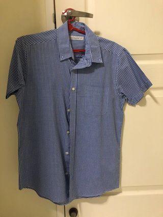 Cedar wood state blue shirt