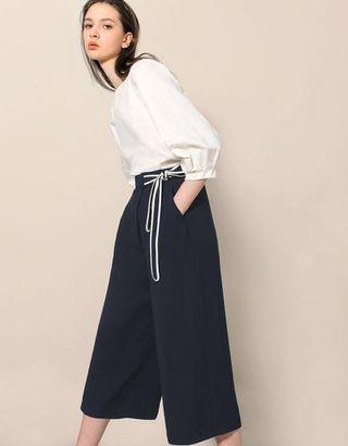 BNWT Saturday Club Waist Tie Paperbag Trousers XS / UK4