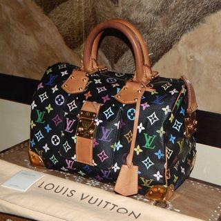 Sale!! LOUIS VUITTON mono black multicolor speedy bag