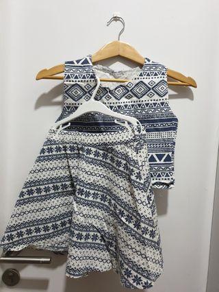 #EST50 Pattern Tops & Skirt