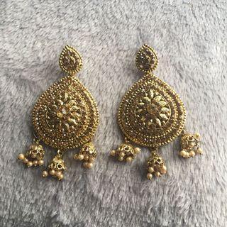 Gold Baahubali Earrings