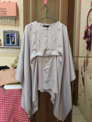 Tunik kaftan busui friendly