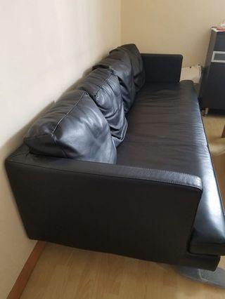 真皮沙發 real leather couch