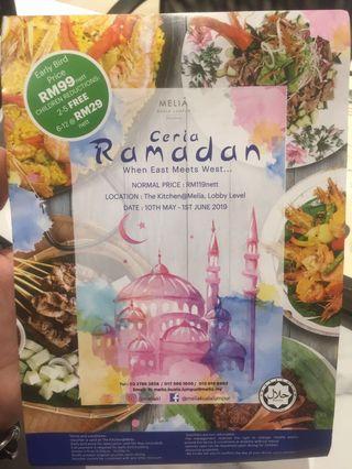 Melia Hotel KL Ramadhan Buffet Early Bird Voucher