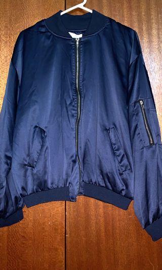 BNWOT Navy Blue Bomber Jacket