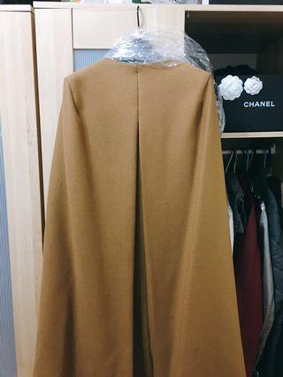 紐約Zara 全新羊毛厚挺氣質斗篷外套