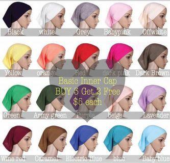 Instock 3+2 Basic hijab Inner Cap