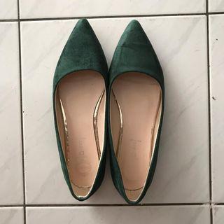 Green Flat Shoes #apr75