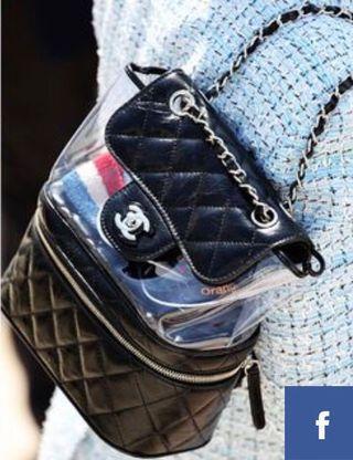 Chanel 黑色透明 背包