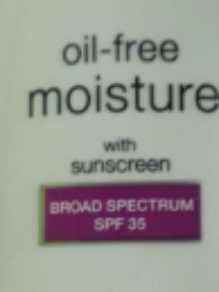 Neutrogena oil-free moisturizer spf 35