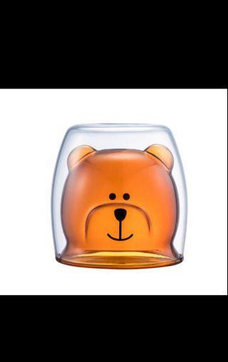 小熊玻璃杯  小貓玻璃杯  適合冷熱飲品