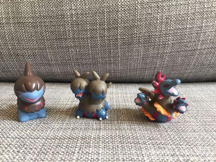 Japan Toy 寵物小精靈 公仔 一套三隻