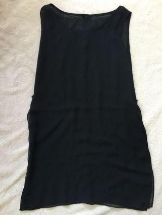 Sleeveless Tunic Blouse for Women with side slits