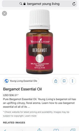 Young living bergamot oil