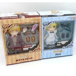 全新未開封現貨 GOODSMILE NENDOROID DOLL White Rabbit 白兔 & Alice 愛麗絲 Set