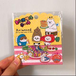 Mind wave Cute animals shinny stickers 可愛閃亮動物貼紙