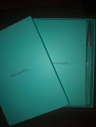 Tiffany and co. Notebook and Pen Set