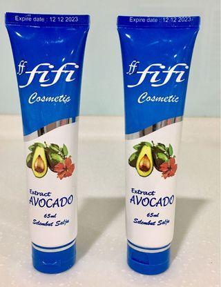FIFI Cosmetic (Extract Avocado) selembut salju 65ml X2