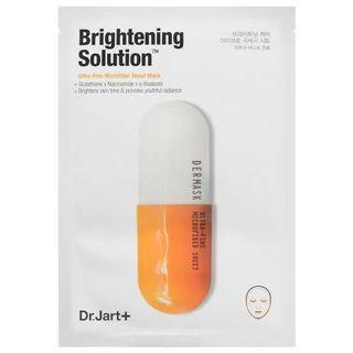 Dr. jart brightening solution mask