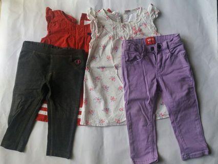 Miki sets top dress and pants