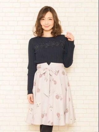 日系☘️花柄☘️綁帶碎花裙 Japan fashion floral skirt ribbon tie up flower pattern skirt - pink floral pattern skirt