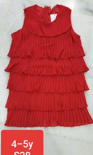 Stock clearance kids red dress