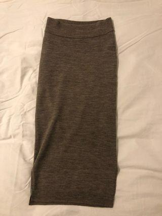 Oatmeal Wilfred knit skirt