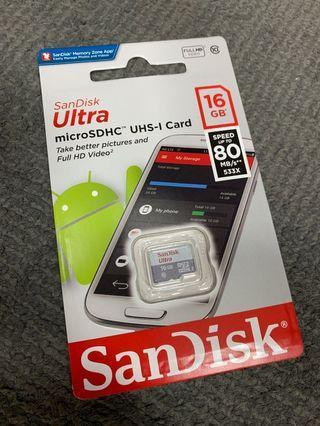Sandisk Ultra Micro SD Card (16GB)