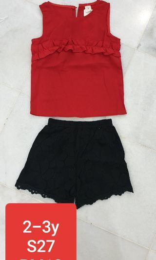 Stock clearance kids dress or pant set brand new
