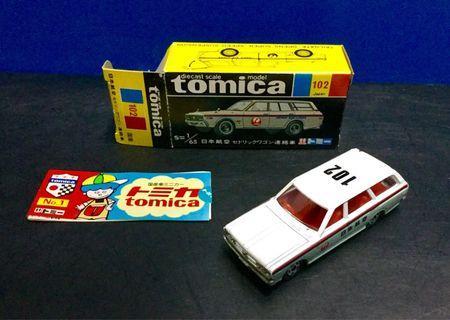 Tomica No.102 JAL Cedric Wagon Ramp Car