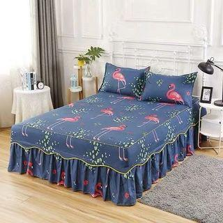 🎊 Promo Skirting Bedsheet with 2 pillow cases