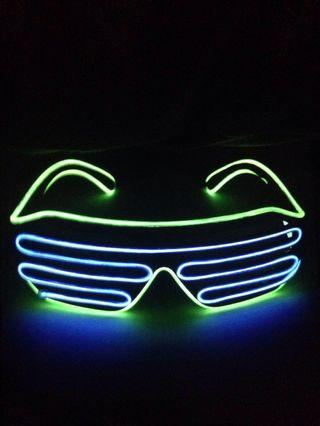 Double coloured led light glasses ❗️ BLUE GREEN , AVAILABLE❗️Fashion Neon Led Light wired Glasses / Spectacles. Events/ Parties/ Clubs/ Birthday/ Bachelor/ Bachelorette/ Gifts / Rave