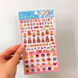 Korean cute stickers 韓國可愛立體貼紙