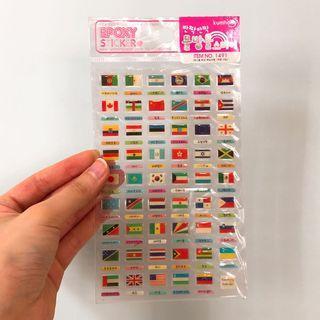Cute national flags stickers 可愛國旗立體貼紙 購至韓國