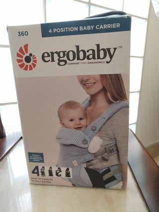 OEM Ergobaby 360 All 4 Position Baby Carrier - NO WARRANTY - Direct from Factory (Azure Blue)