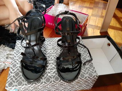 Black Parisian Block Heels 8