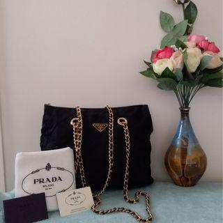 Pre owned authentic PRADA chain sling