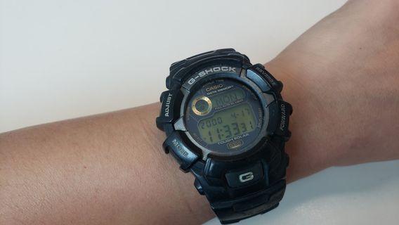 [100% real, 80% new] G Shock G-2300 中古錶 黑色男裝