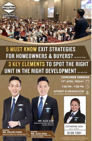 Consumer Seminar- 5 Must know exit strategies