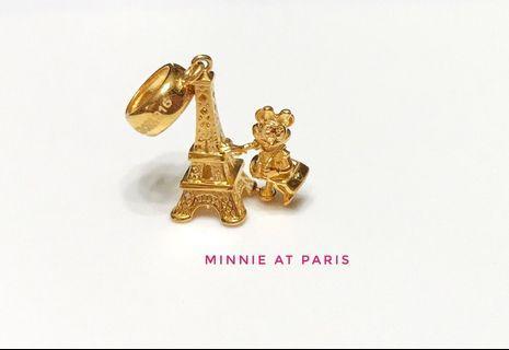 916 Gold Charm Minnie At Paris