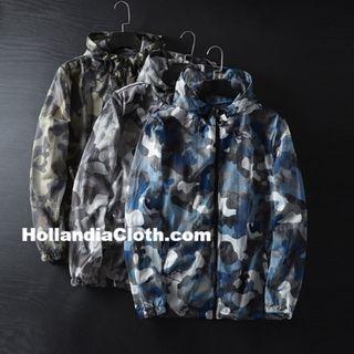 新加坡訂單軍事迷彩藍啡綠色薄款春夏秋男士輕薄透氣網面男外套防曬衣風褸-hc080